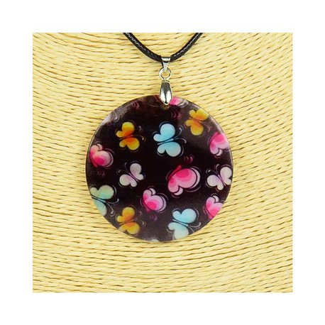Pendant necklace 5 cm Natural Mother of Pearl Fashion Design L48cm New Collection 76190