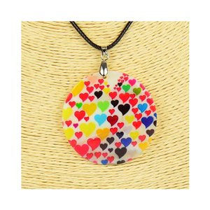 Collier Pendentif 5cm en Nacre naturelle Fashion Design L48cm New Collection 76193