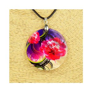 Pendant necklace 5 cm Natural Mother of Pearl Fashion Design L48cm New Collection 76198