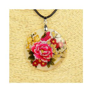 Collier Pendentif 5cm en Nacre naturelle Fashion Design L48cm New Collection 76200