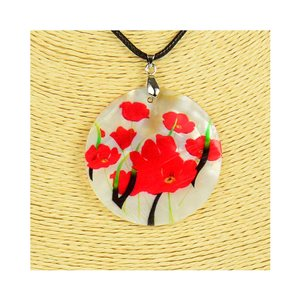 Pendant necklace 5 cm Natural Mother of Pearl Fashion Design L48cm New Collection 76203