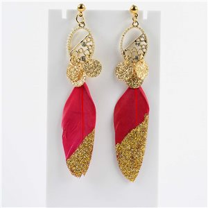 1p Boucles Oreilles Pendantes à clou 9cm Original Collection Plumes 2019 76507