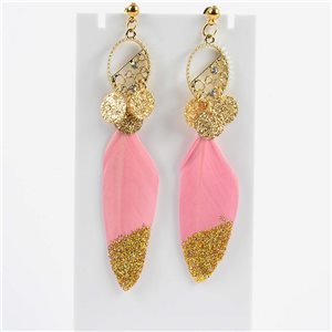 1p Boucles Oreilles Pendantes à clou 9cm Original Collection Plumes 2019 76508