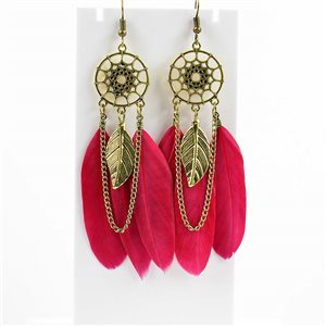 1p Boucles Oreilles Pendantes à crochet 10cm Original Collection Plumes 2019 76479