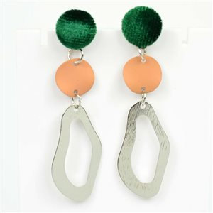 1p Earrings Nail 55mm metal color SILVER New Graphika Trend 76525