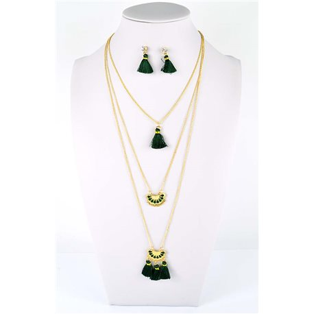 Adornment Pompom Collection 2019 Necklace Multirang chain necklace gold L48cm 76564