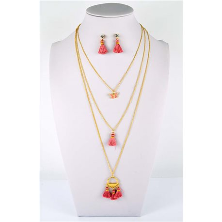 Adornment Pompom Collection 2019 Necklace Multirang chain necklace gold L48cm 76570