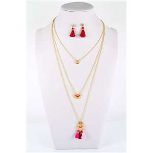 Adornment Pompom Collection 2019 Necklace Multirang chain necklace gold L48cm 76587