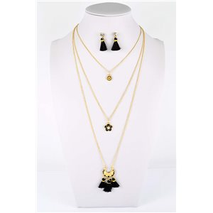 Adornment Collection Pompon 2019 Necklace Long necklace multirang golden chain L48cm 76597
