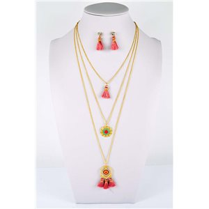 Adornment Pompom Collection 2019 Necklace Multirang chain necklace gold L48cm 76602
