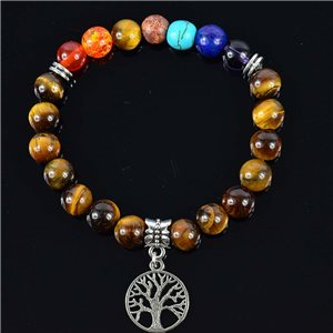 Tiger Eye Stone Charm Bracelet Charms Tree of Life Collection 76620