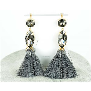 1p Boucles Oreilles Pendantes à clou 9cm New Collection Pompon 2019 76685