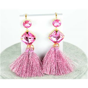 1p Boucles Oreilles Pendantes à clou 8cm New Collection Pompon 2019 76694