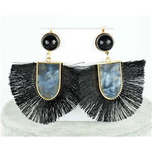 1p Earring Drop Earrings 7.5cm New Collection Pompom 2019 76699