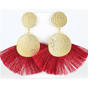 1p Boucles Oreilles Pendantes à clou 10cm New Collection Pompon 2019 76704
