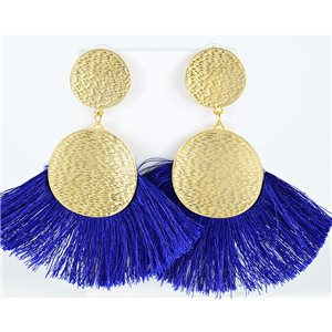 1p Drop Earrings with nail 10cm New Collection Pompon 2019 76706