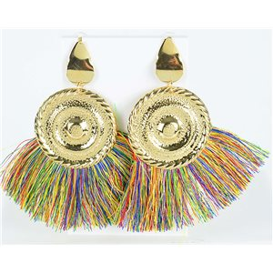 1p Boucles Oreilles Pendantes à clou 10cm New Collection Pompon 2019 76709