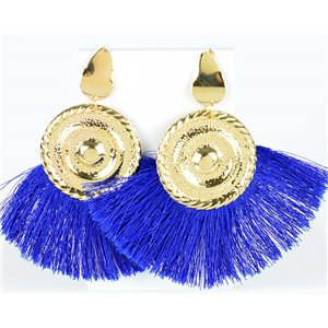 1p Boucles Oreilles Pendantes à clou 10cm New Collection Pompon 76710