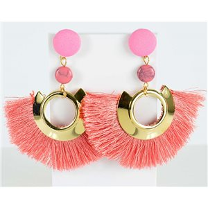 1p Boucles Oreilles Pendantes à clou 8cm New Collection Pompon 2019 76714