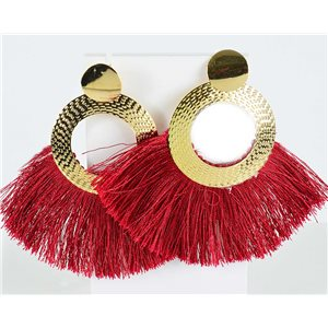 1p Earring Drop Earrings 8.5cm New Collection Pompom 2019 76716