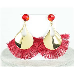 1p Boucles Oreilles Pendantes à clou 8cm New Collection Pompon 2019 76696