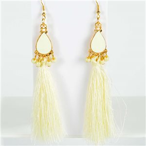 1p Boucles Oreilles Pendantes à crochet 13cm New Collection Pompon 2019 76724