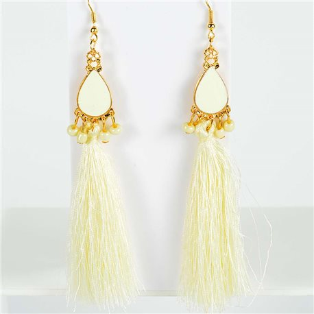 1p Earrings with hook 13cm New Collection Pompon 2019 76724