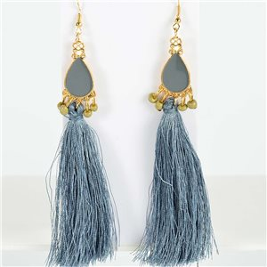 1p Boucles Oreilles Pendantes à crochet 13cm New Collection Pompon 2019 76725