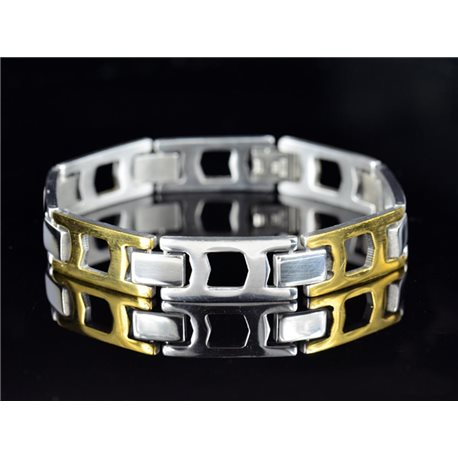 Bracelet bracelet in Stainless Steel Collection 2019 Gold & Silver 12mm 21.5cm 76637