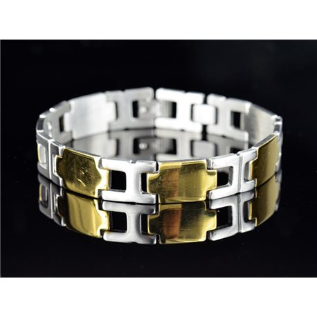 Bracelet bracelet in Stainless Steel Collection 2019 Gold & Silver 12mm 21cm 76639