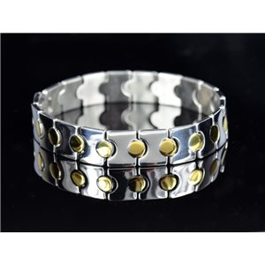 Bracelet in Stainless Steel Collection 2019 Gold & Silver 12mm 20.5cm 76407