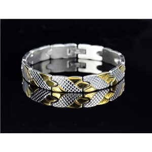 Bracelet in Stainless Steel Collection 2019 Gold & Silver 10mm 20.5cm 76414