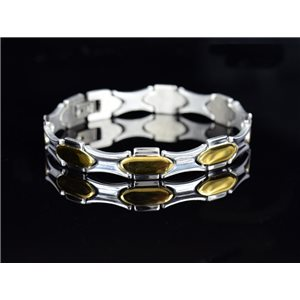 Bracelet bracelet in Stainless Steel Collection 2019 Gold & Silver 10mm 20.5cm 76636
