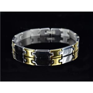Bracelet in Stainless Steel Collection 2019 Gold & Silver 8mm 20.5cm 76403