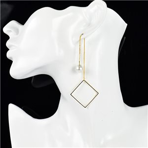 1p Earring Drop Earrings metal nail color GOLD New Graphika Style 76098