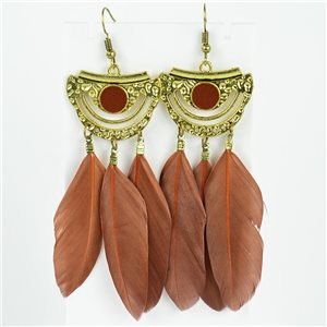 1p Boucles Oreilles Pendantes à crochet 10cm Original Collection Plumes 2019 76731