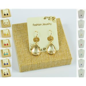1p Earrings Golden 30mm Crochet Collection Crystal Color 76946