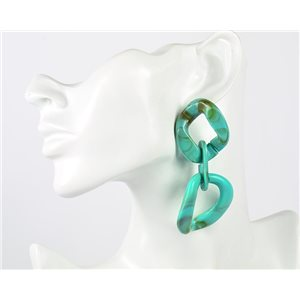 1p of 9cm Drop Earrings with Nails in Acrylic Fashion Colors 76974