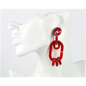1p de Boucles Oreilles Pendantes à Clou 8cm en acrylique Fashion Colors 76991