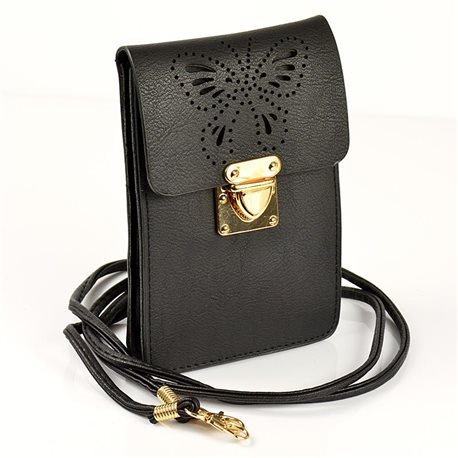 Women's PU Leather Pouch Bag 11 * 17cm New Collection 77042