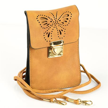 Women's Pouch Bag in PU Leather 11 * 17cm New Collection 77046