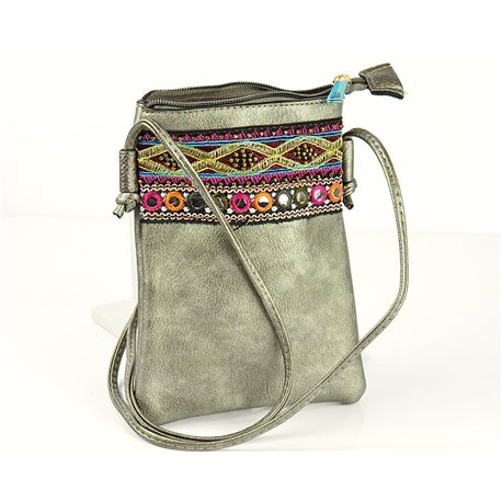 Women's Pouch Bag in PU Leather 13 * 19cm New Collection 77049