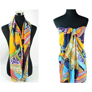 Foulard Paréo voile polyester 140cm-90cm New Collection 77083