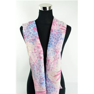 Foulard polyester 180cm-75cm New Collection Eté 77128