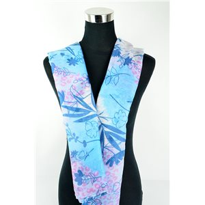 Foulard polyester 180cm-75cm New Collection Eté 77129