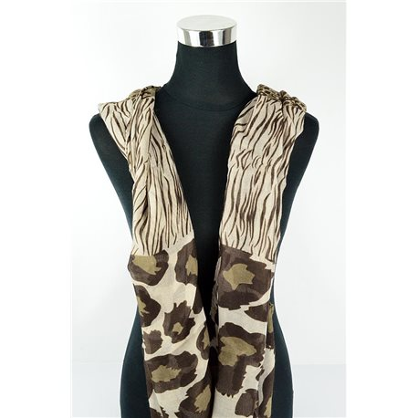 Polyester scarf 180cm-75cm New Summer Collection 77144