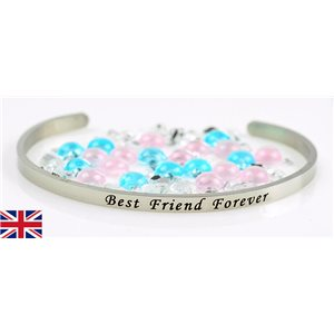 Stainless Steel Bangle Message: Best Friend Forever 77314