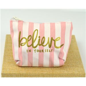 Trousse en Coton Fashion style pour Make Up 12*8cm fermeture zip 77278