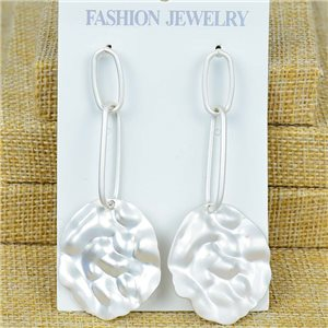 1p Earrings Nail 75mm metal color SILVER New Graphika 77376