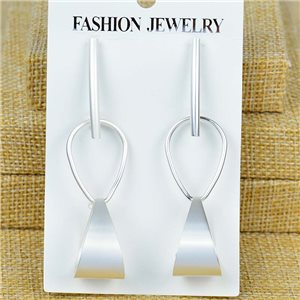 1p Earrings Nail 70mm metal color SILVER New Graphika 77406